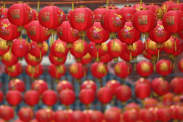 Preparations For Chinese New Year In China Town