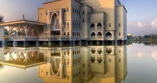 این مساجد مالزی روی آب ساخته شده است +تصاویر